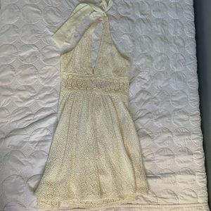 Free people crochet halter top dress